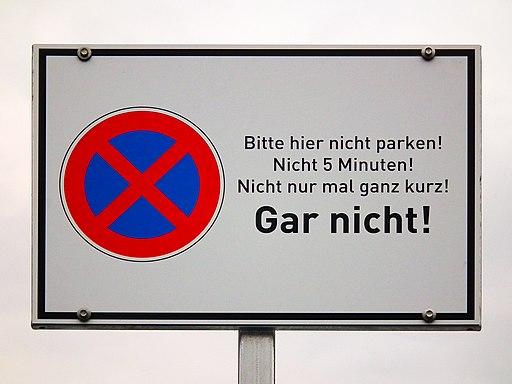 Halteverbot - unmissverständlich Schwetzingen