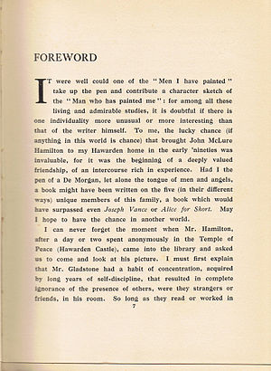 Foreword - The foreword to Men I Have Painted, by John McLure Hamilton; 1921