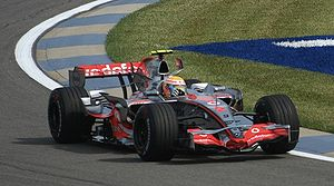 Lewis Hamilton - Hamilton after taking pole at the 2007 United States Grand Prix
