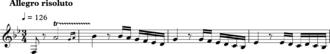 Retrograde (music) - Hammeklavier fugue subject, first four bars