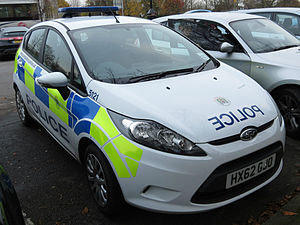 Police vehicles in the United Kingdom - Ford Fiesta of the Hampshire Constabulary.