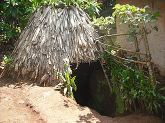 Chaga people -  A Chagan cave (modified) to hide during tribal wars
