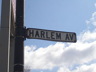 Harlem Avenue - A street sign