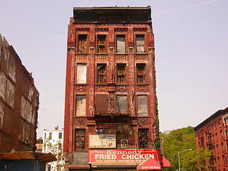 Harlem - A condemned building in Harlem after the 1970s