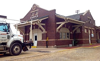 Harper, Kansas - Harper Train Depot (2015)