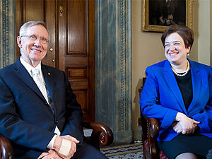 English: Senate Majority Leader Harry Reid (D-...