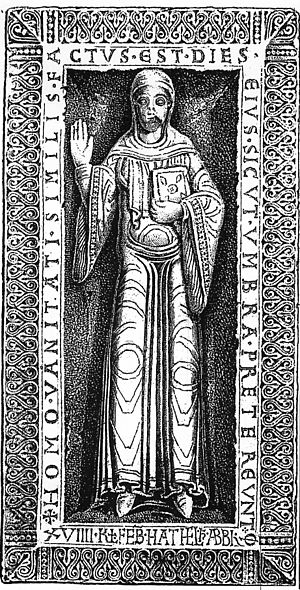 Adelaide I, Abbess of Quedlinburg - Tombstone