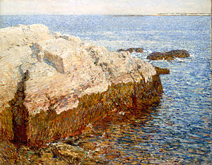 Cliff Rock--Appledore - Image: Hassam, Childe Cliff Rock Appledore Google Art Project