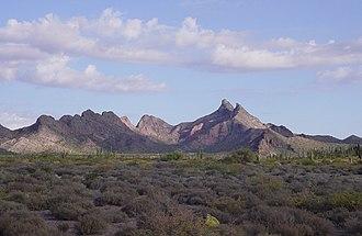 Sonora - Hastéecöla peaks near Bahía Kino
