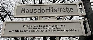 Felix Hausdorff - Hausdorffstraße (Bonn)