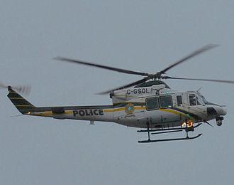 Sûreté du Québec - An helicopter during the 2012 student protests