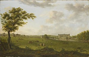 Hendrik Frans de Cort - Chantilly in 1781, View from the Lawn