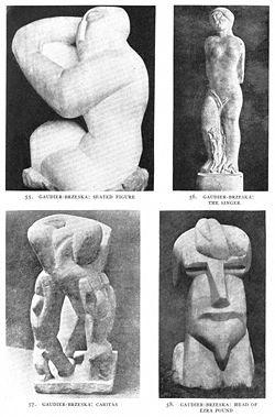Henri gaudier brzeska wikipedia seated figure the singer caritas head of ezra pound fandeluxe Images