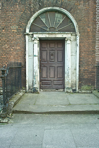 William Stewart, 1st Earl of Blessington - Entrance to Mountjoy's town house 12 Henrietta Street Dublin August 2010