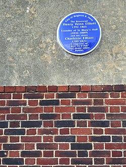 Photo of Henry Venn Elliott and Charlotte Elliott blue plaque