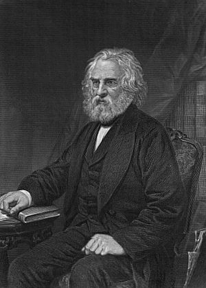 American poetry - Henry Wadsworth Longfellow in 1873.