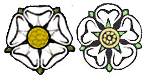 White Rose of York - The white rose of York, when depicted at small sizes is rendered more simply as a graphic image.