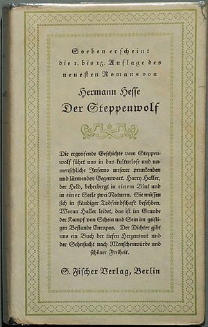 Steppenwolf (novel) - Cover of the original German edition