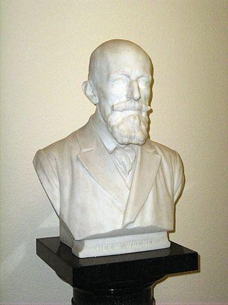 Hermann Wagner (geographer) - Bust of Hermann Wagner by Adolf von Donndorf (1910)