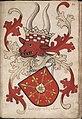 Hertoghe van Cleue - Hertog van Kleef - Duke of Cleves - Wapenboek Nassau-Vianden - KB 1900 A 016, folium 15r.jpg