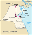 Highway of Death. Map of Kuwait (lithuanian).png