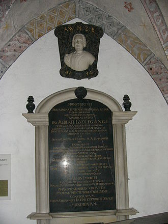Albert Wolfgang of Brandenburg-Bayreuth -  His grave in Himmelskron Abbey