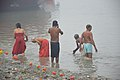 Hindu Devotees Taking Holy Dip In Ganga - Makar Sankranti Observance - Kolkata 2018-01-14 6609.JPG