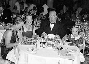Joan Harrison (screenwriter) - Joan Harrison, second from left, at dinner with the Hitchcocks (August 24, 1937)