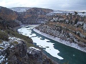 Hoces del río Duratón en invierno.JPG