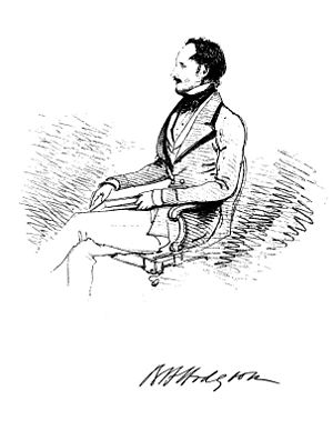 Brian Houghton Hodgson - Drawing of Hodgson by William Tayler c. 1849