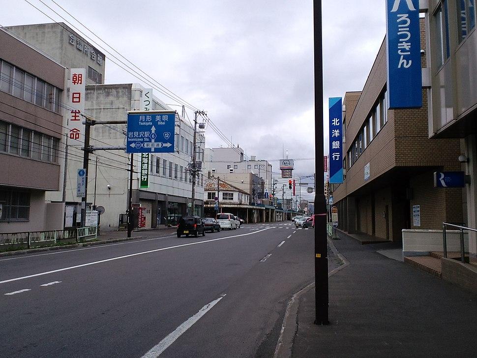 Hokkaido-prefectural-road R6 central-Iwamizawa