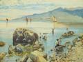 Holger Hvidtfeldt Jerichau - Fiskere ved kysten, Italien.png