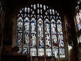 Church of the Holy Trinity, Stratford-upon-Avon - Holy Trinity's window from inside