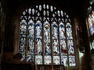 Church of the Holy Trinity, Stratford-upon-Avon - Holy Trinity's window from inside