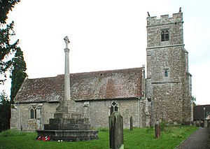 Grade I listed buildings in Maidstone - Image: Holy Cross, Bearsted, Kent geograph.org.uk 325331