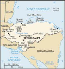 Mapa Hondurasu