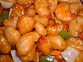 Honey-glazed prawns.JPG