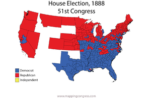 United States House of Representatives elections, 1888 - Image: House 051Election Map