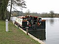 Houseboat moored on the River Yare by Bramerton Common - geograph.org.uk - 1759819.jpg
