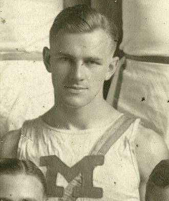 Howard Hoffman (athlete) - Hoffman from team portrait of 1921 Michigan track team