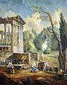 Hubert Robert (style of) Lanscape with temple ruin.jpg