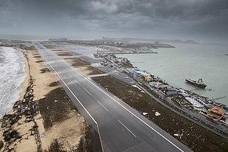 Princess Juliana International Airport - Runway after Hurricane Irma