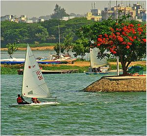 Hussain sagar, sailing festival. Hyderabad India