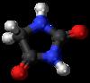 Pilk-kaj-bastona modelo de hidantoin