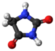 Ball-and-stick model of hydantoin
