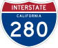 Interstate 280 marker
