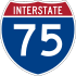 Interstate 75 marker