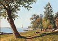 I. E. C. Rasmussen - Scenery from Svendborgsund a quiet summer day.jpg