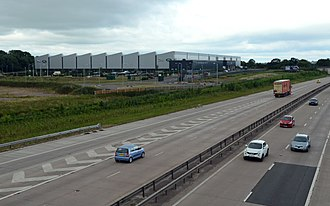 Engine Manufacturing Centre - Jaguar Land Rover Engine Manufacturing Centre and the M54 motorway