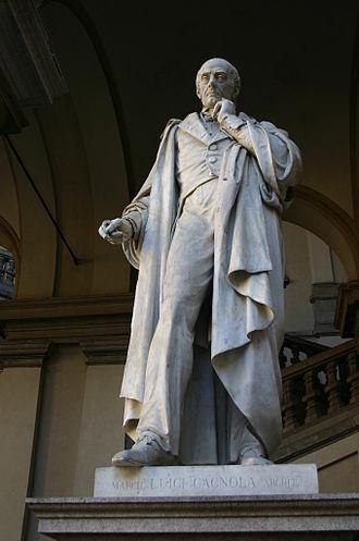 Luigi Cagnola - A statue of Luigi Cagnola at Palazzo Brera in Milan